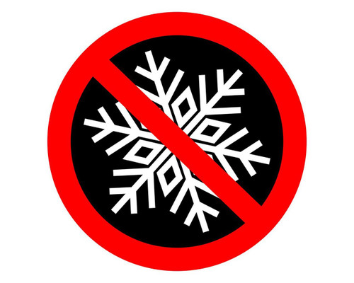 No Snowflakes  Round Humorous Funny Decal Sticker for Cars Trucks Laptops etc..