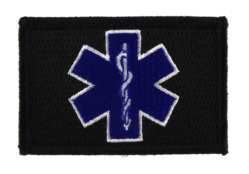 EMT Star Of Life Tactical Velcro Fully Embroidered Morale Tags Patch