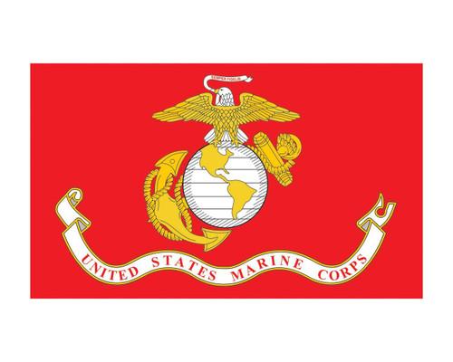 Marine Corps Flag USMC 3x5 Vinyl Decal Sticker for Cars Trucks Laptops etc...