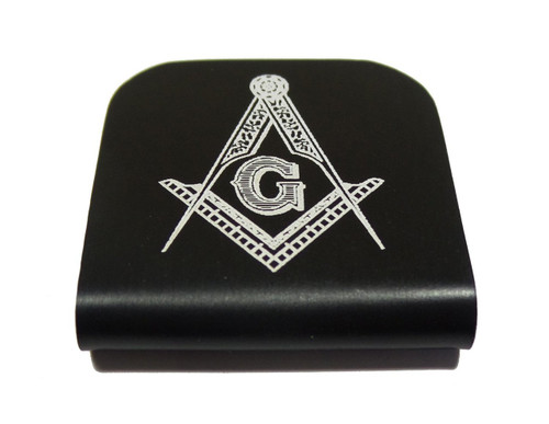Masonic Compass and Square Hat Clip