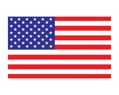 American Flag US Flag 3x5 Vinyl Decal Sticker for Cars Trucks Laptops etc...