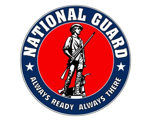 National Guard Emblem ARNG Logo Vinyl Decal Sticker for Cars Trucks Laptops etc. Round