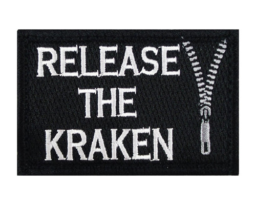 Release The Kraken Tactical Velcro Fully Embroidered Morale Tags Patch