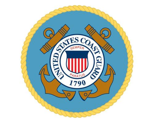 Coast Guard Emblem USCG Logo Vinyl Decal Sticker for Cars Trucks Laptops etc. Round