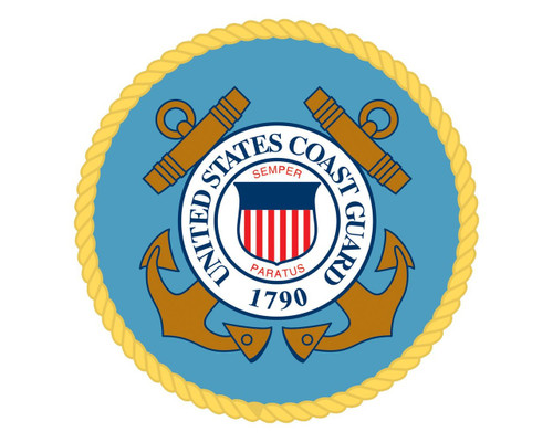 "Coast Guard Emblem USCG Logo Vinyl Decal Sticker for Cars Trucks Laptops etc. 5"" Round"