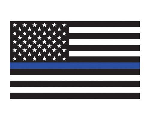 "Thin Blue Line Flag Window Decal 3x5"" Vinyl Sticker"