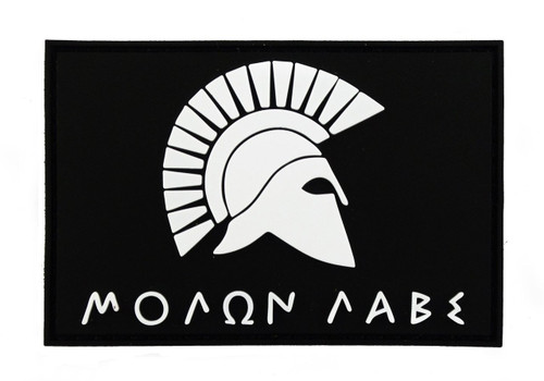 Molon Labe Spartan PVC Tactical Velcro Morale Tags Patch