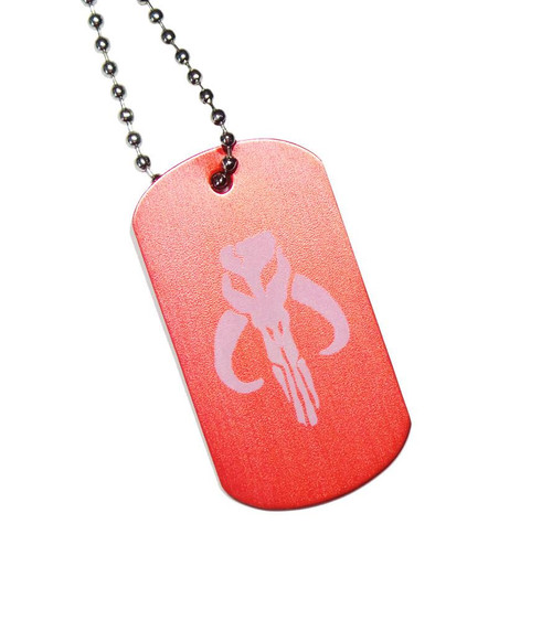 Mandalorian Dog Tag with Chain