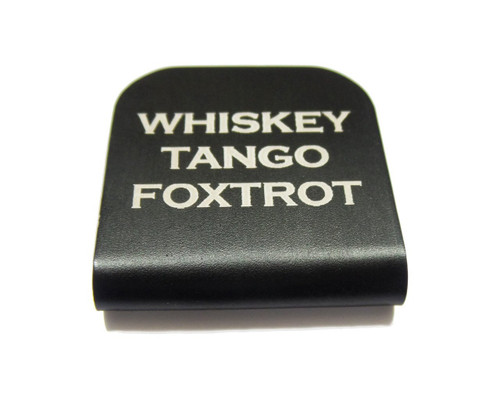 Whiskey Tango Foxtrot Hat Clip