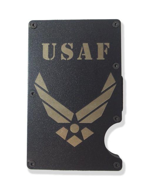 Air Force Wallet Custom Engraved RFID Blocking Thin Card Organizer w/ Money Clip