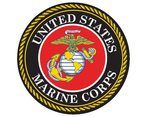 United States Marine Corps Seal USMC Emblem Round Vinyl Decal Sticker for Cars Trucks Laptops etc...