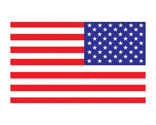 Reverse American Flag US Flag 3x5 Vinyl Decal Sticker for Cars Trucks Laptops etc...