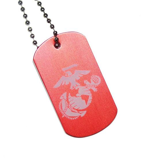 USMC EGA Dog Tag with Chain