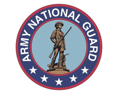 Army National Guard Emblem ARNG Logo Vinyl Decal Sticker for Cars Trucks Laptops etc.  Round