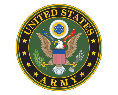 Army Emblem US Army Logo Vinyl Decal Sticker for Cars Trucks Laptops etc. Round
