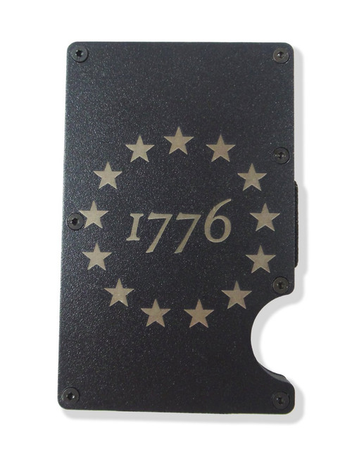 1776 Wallet Custom Engraved RFID Blocking Thin Card Organizer w/ Money Clip