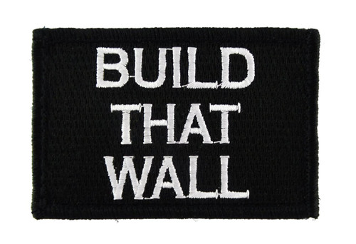 Build That Wall Tactical Velcro Fully Embroidered Morale Tags Patch