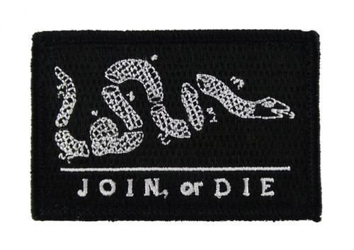Join or Die Tactical Velcro Fully Embroidered Morale Tags Patch