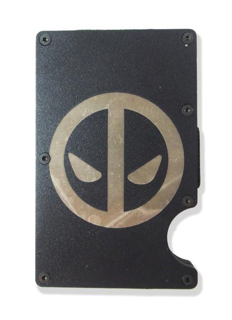 Deadpool Wallet Custom Engraved RFID Blocking Thin Card Organizer w/ Money Clip
