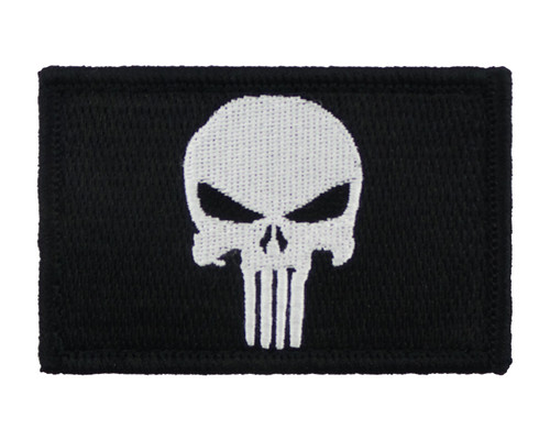 Skull Tactical Funny Velcro Fully Embroidered Morale Tags Patch