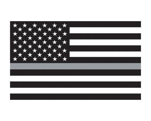 "Thin Grey Line Flag Window Decal 3x5"" Vinyl Sticker"