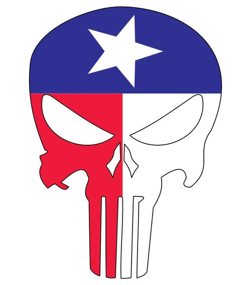 """Texas Flag Skull Vinyl Decal Sticker for Cars Trucks Laptops etc. 5.5 x 3.9"""""""