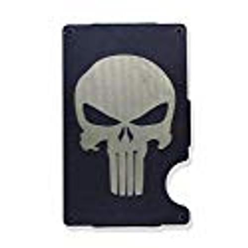 Skull Wallet Custom Engraved RFID Blocking Thin Card Organizer w/ Money Clip