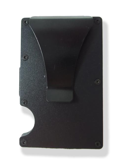 American Flag with Skull Wallet Custom Engraved RFID Blocking Thin Card Organizer w/ Money Clip