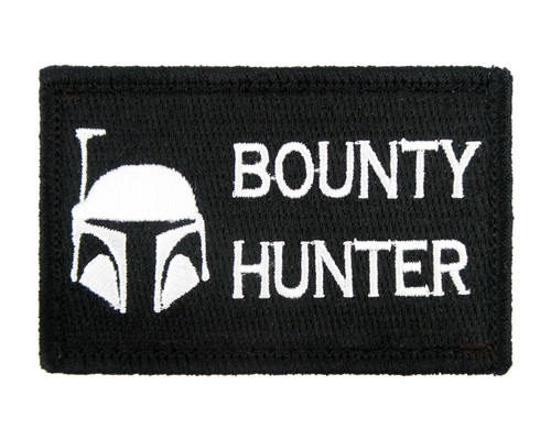 Bounty Hunter Tactical Funny Velcro Fully Embroidered Morale Tags Patch