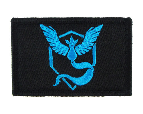 Pokemon Go Mystic Tactical Funny Velcro Fully Embroidered Morale Tags Patch