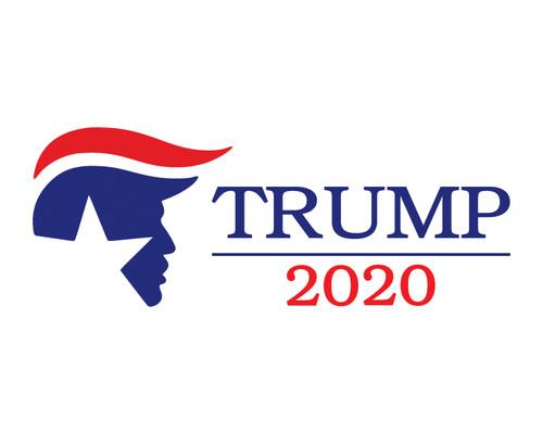 "Trump 2020 Vinyl Decal Bumper Sticker for Cars Trucks Laptops etc. 7.5"" x 3"""