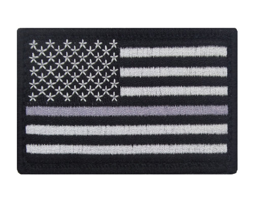 Thin Gray Line Hook and Loop Corrections Officer Support Correctional Officer Flag Patch Morale Tags Fully Embroidered