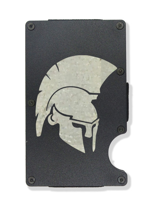 Spartan Warrior Wallet Custom Engraved RFID Blocking Thin Card Organizer w/ Money Clip