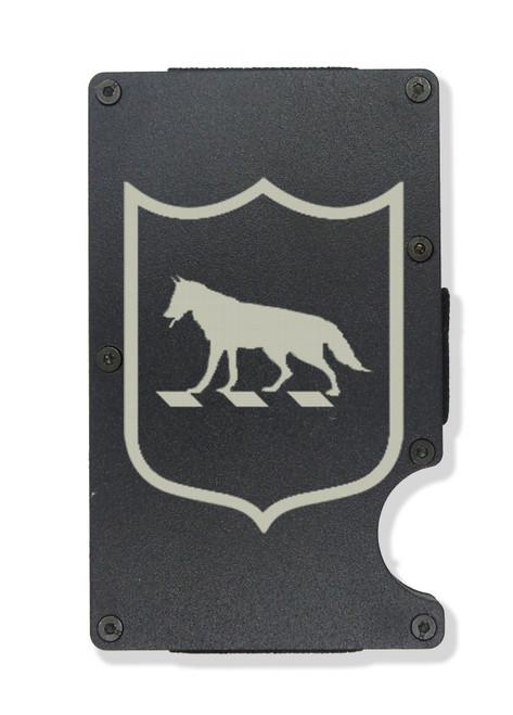 South Dakota National Guard Engraved Metal RFID Blocking Tactical Minimalist Wallet w/Money Clip