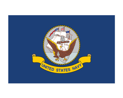 Navy Flag USN 3x5 Vinyl Decal Sticker for Cars Trucks Laptops etc...