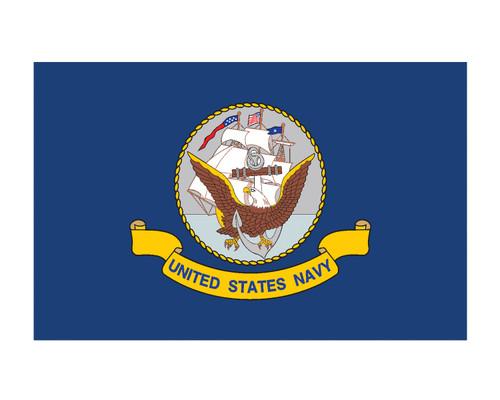 Navy Flag USN 3x5 Vinyl Decal Sticker for Cars Trucks Laptops etc...