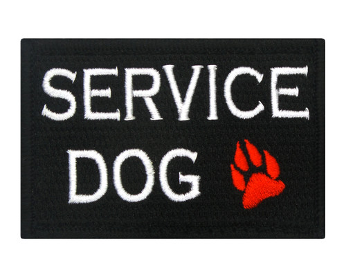 Service Dog with Paw Patch Morale Tags Fully Embroidered