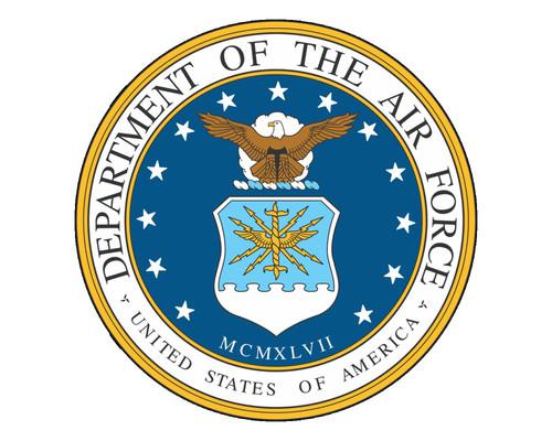 Air Force Emblem Official USAF Logo Vinyl Decal Sticker for Cars Trucks Laptops etc.  Round