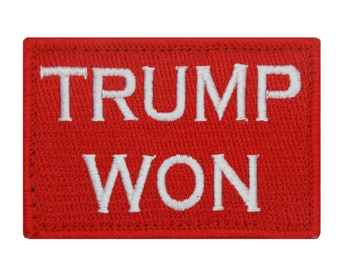 Trump Won Velcro Patch Morale Tags Fully Embroidered