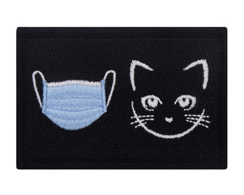 Mask Pussy Velcro Patch Morale Tags Fully Embroidered