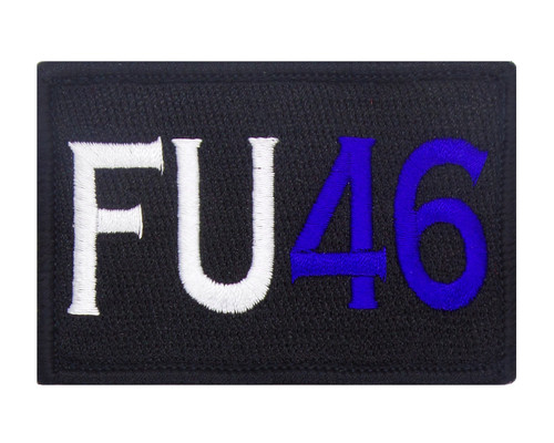 FU46 Velcro Patch Morale Tags Fully Embroidered