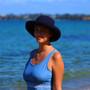 Navy Cotton - Wide Brim - The Noosa Hat