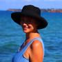 Black Cotton - Wide Brim - The Noosa Hat