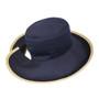Reversible Ponytail Hat - Camel/Navy Cotton
