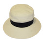 Navy and Natural - Boater Hat