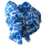 100% Silk Scarf - Topshow Hat Accessory - Blue Print