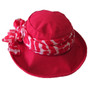 100% Silk Scarf - Topshow Hat Accessory - Red Print