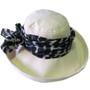100% Silk Scarf - Topshow Hat Accessory - Black Print