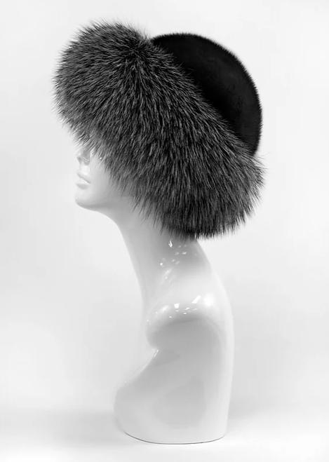 Mink Hat Fox Trim