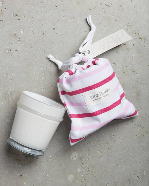 Coconut Sugar Striped Sandbag Candle